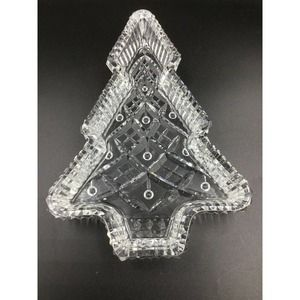 Waterford Christmas Tree Candy Dish Tray Serving